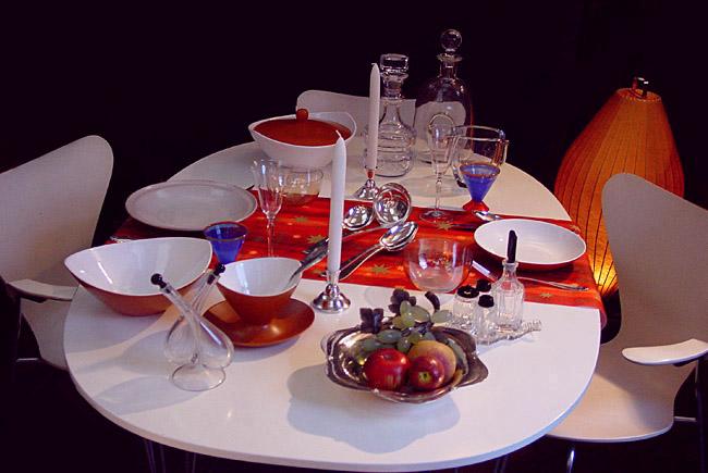 De feestelijke tafel special kristallen karaffen zilver bestek kandelaars - Feestelijke tafels ...